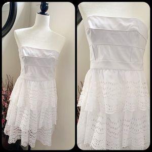 Cynthia Steffe White Strapless Dress